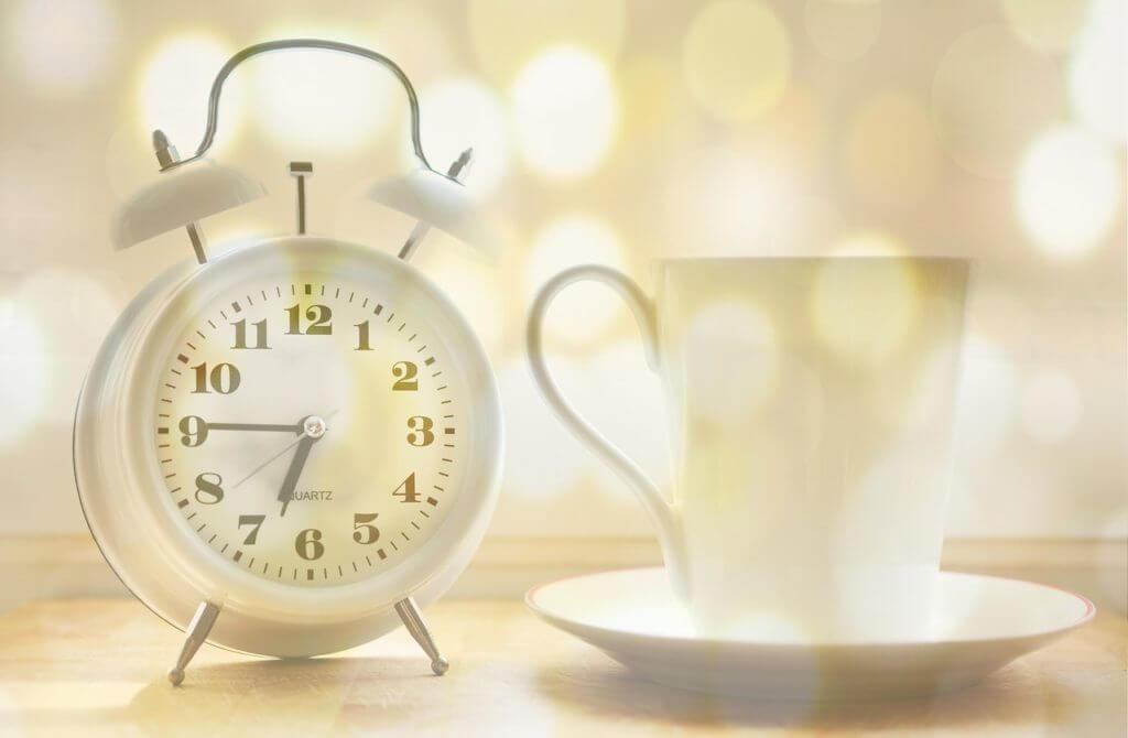目覚まし時計,モーニングコーヒー