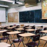 教室,黒板,机,椅子