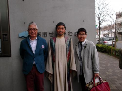 小野さん両親と同級生寺西一真さん