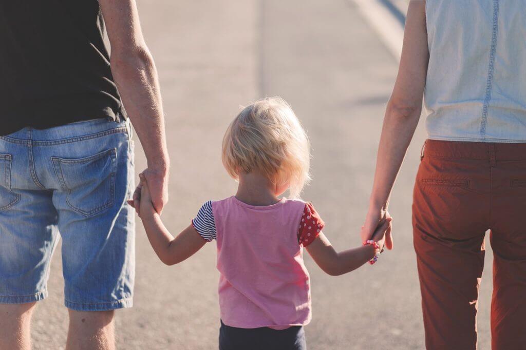 両親,家族,女の子