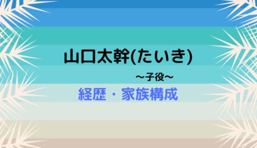 山口太幹(やまぐちたいき・子役)の経歴!父親・母親や兄弟も調査!