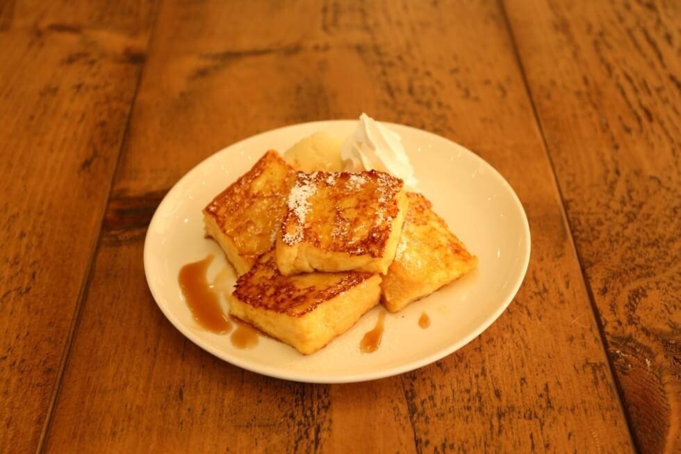 カフェフジヌマのフレンチトースト