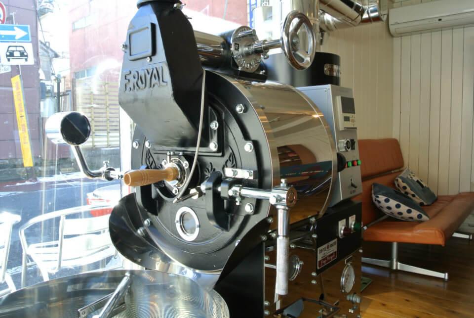 カフェフジヌマの焙煎機